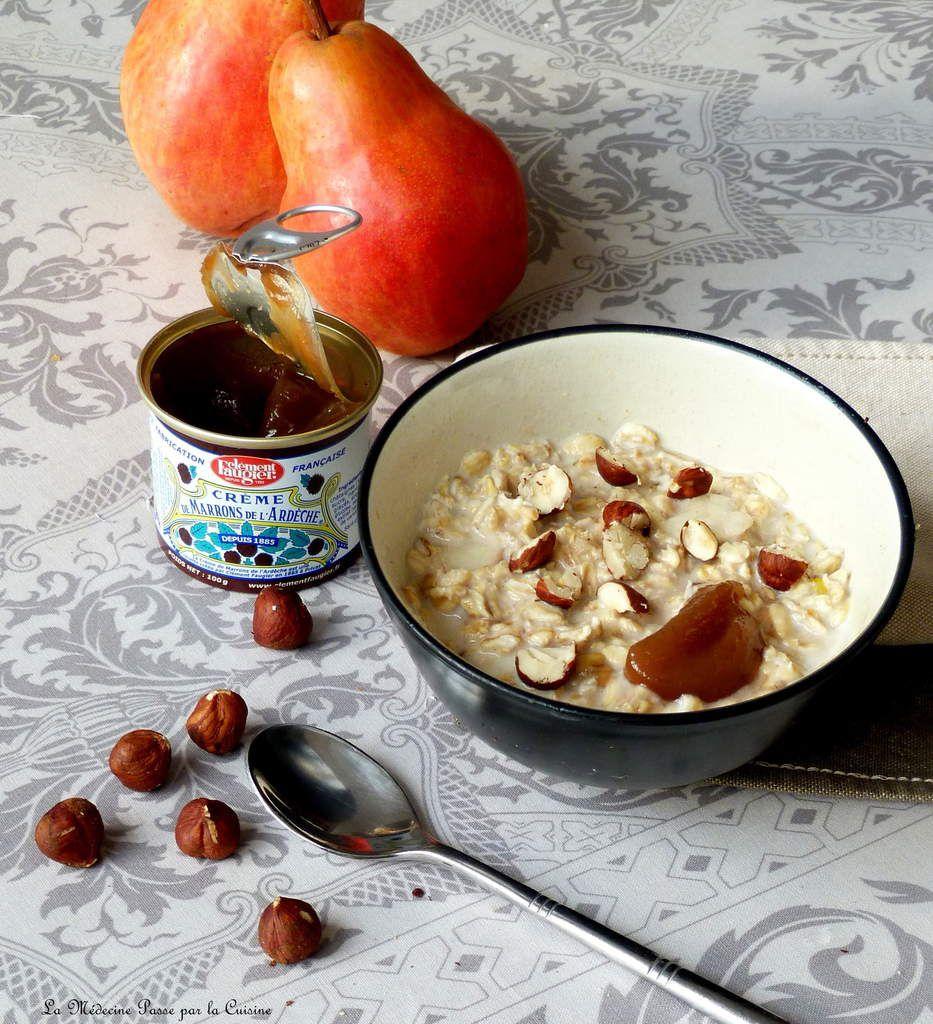 Porridge réconfortant à la crème de marrons