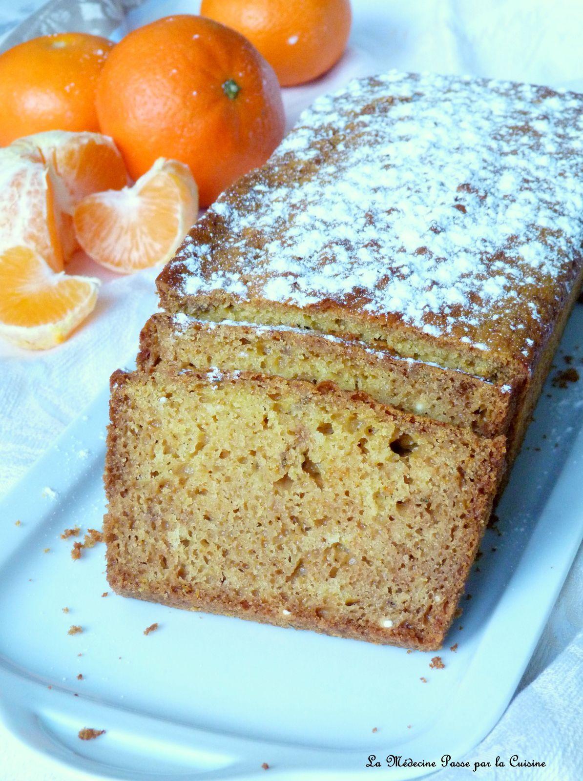 Cake à la mandarine et au miel