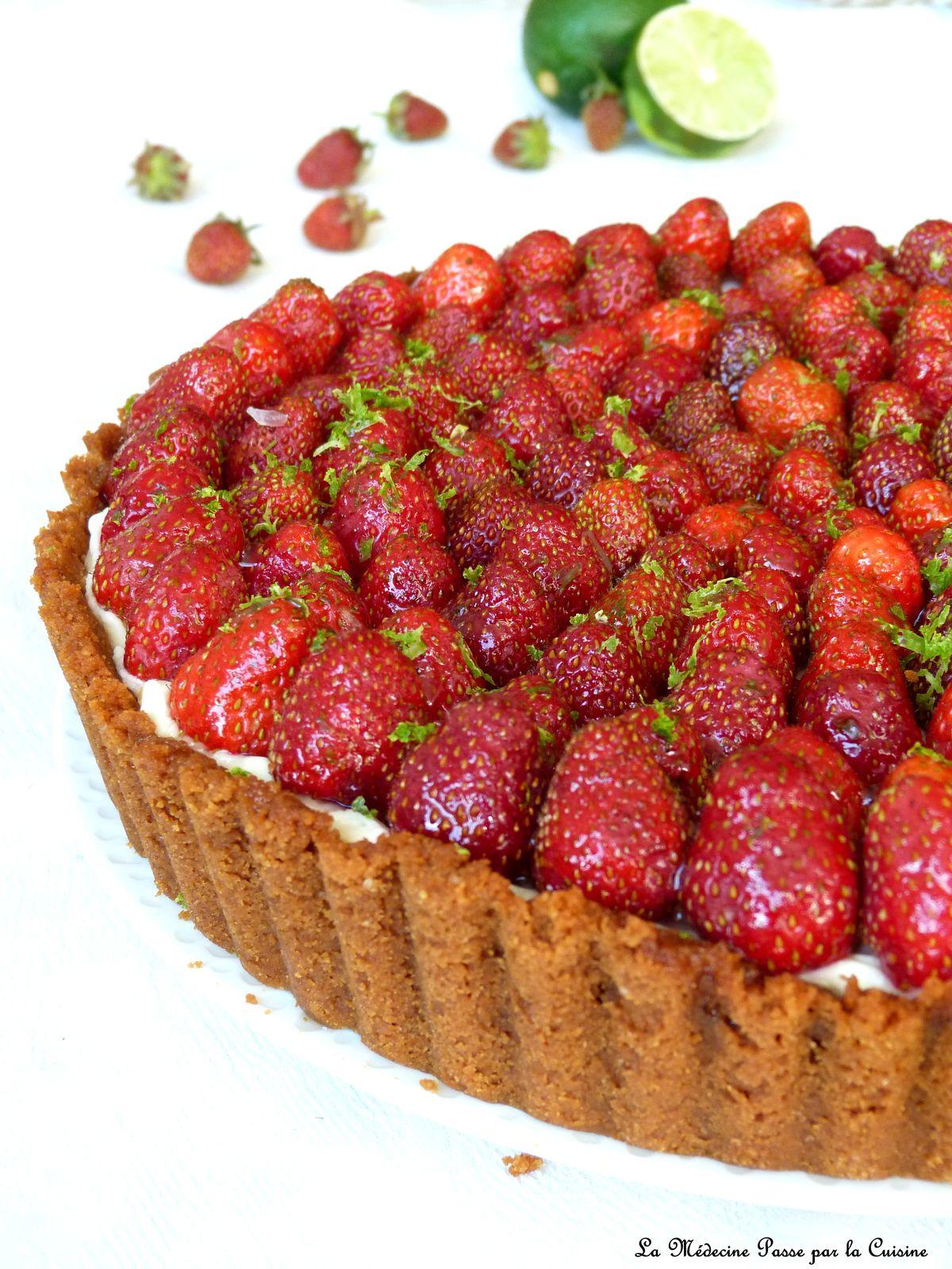 Cheesecake aux fraises, vanille de Tahiti et citron vert
