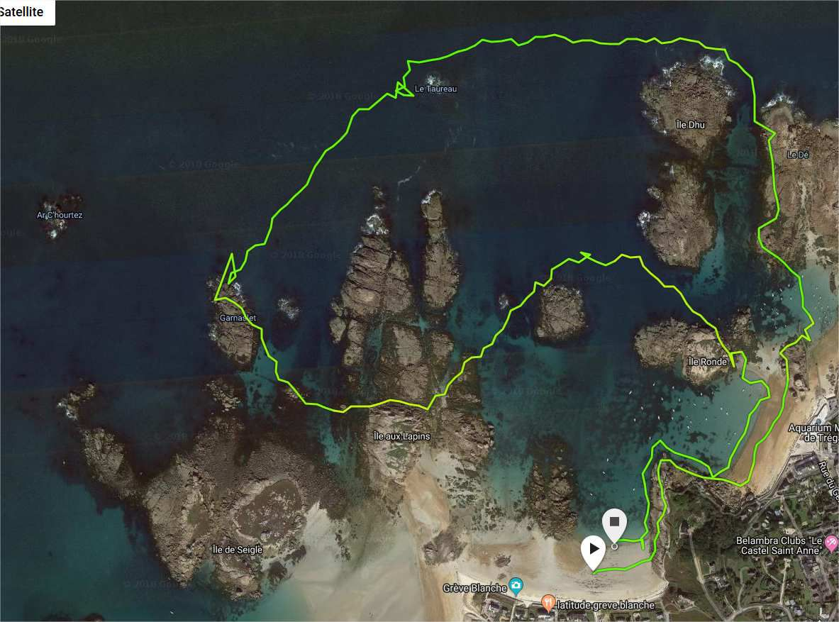Petit parcours sympa, belle visi, t° de l'eau à 13,2°. Vitesse maxi atteinte 4km/h, allure moyenne 1'29/100m.  ;-):-P:-\8-)>:o