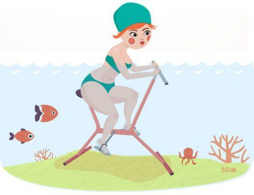 Ma première séance d'aquabike #SDS4
