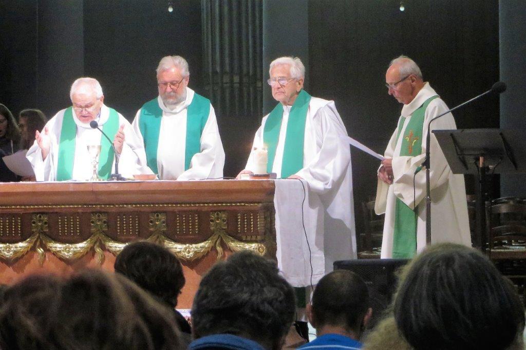 Trois pêtres jubilaires de la Mission Ouvrère honorés