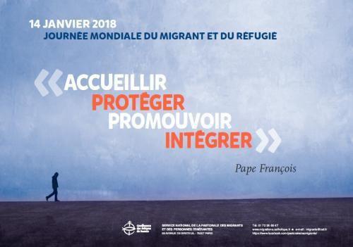 14 janvier 2018 : 104 ème  Journée Mondiale du Migrant et du Réfugié