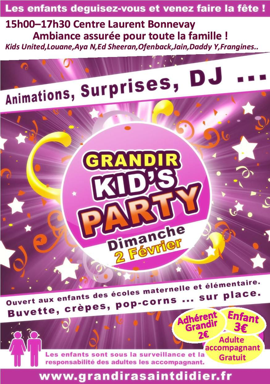 Grandir Kid's Party !