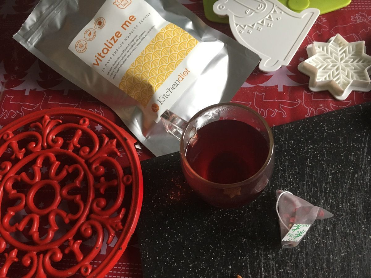 Concours : cure thé detox - Vitalize me - vanille, hibiscus, gingembre, framboise, rooibos