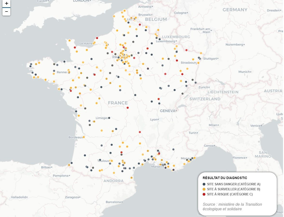 Carte Pollution Bordeaux.Carte Des Creches Et Ecoles Implantees Sur Un Site Pollue