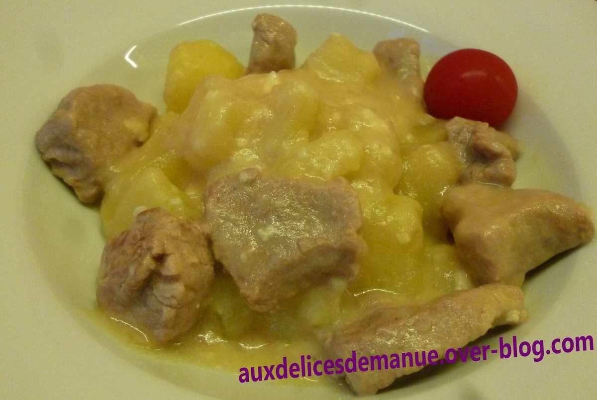 filet mignon au camembert, mozzarella et pommes de terre