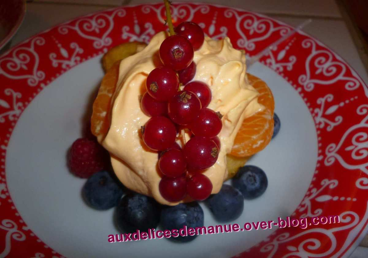 mini baba au Grand Marnier et chantilly citron