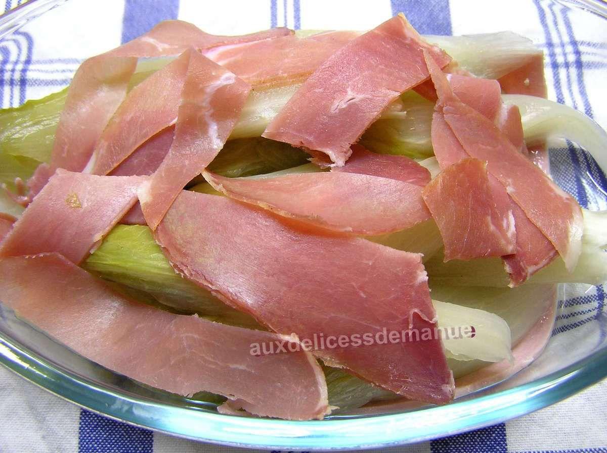 endives aux jambons gratinées au Morbier
