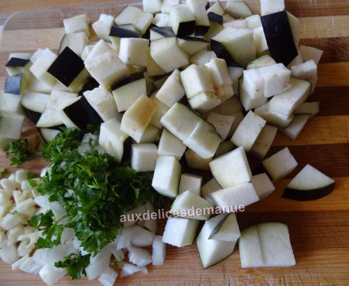 mijoté d'aubergine et semoule