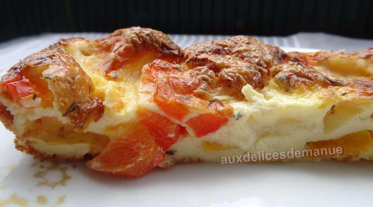 Flan aux 3 poivrons et mozzarella