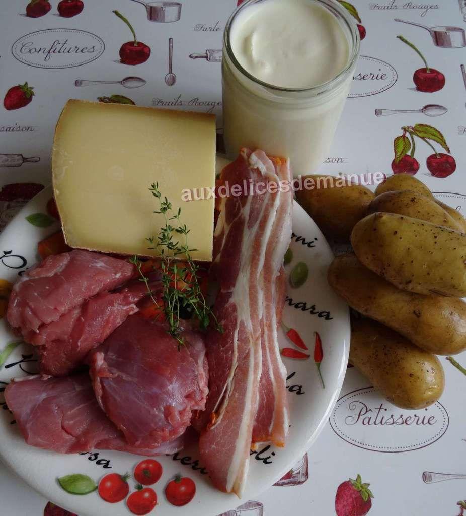 Epaule de veau et sa purée en sauce au Comté