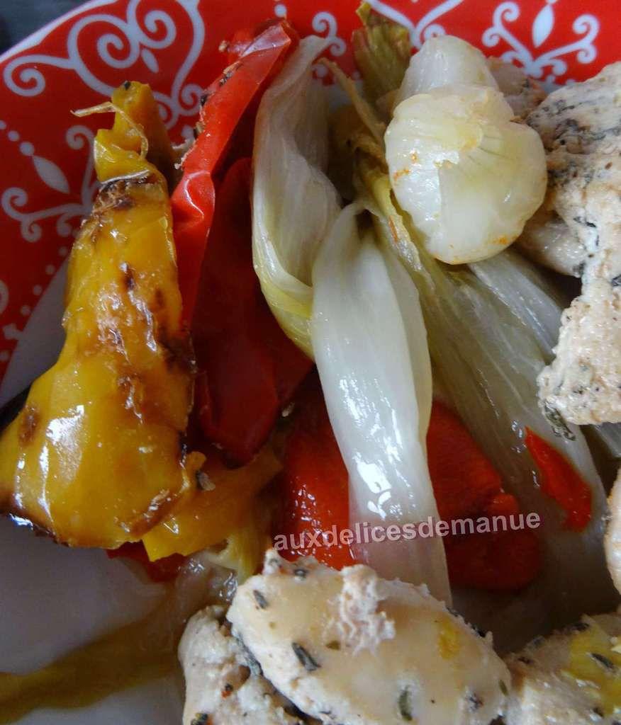 Filets de poulet aux poivrons et endives au cookéo ou pas -LIGHT-