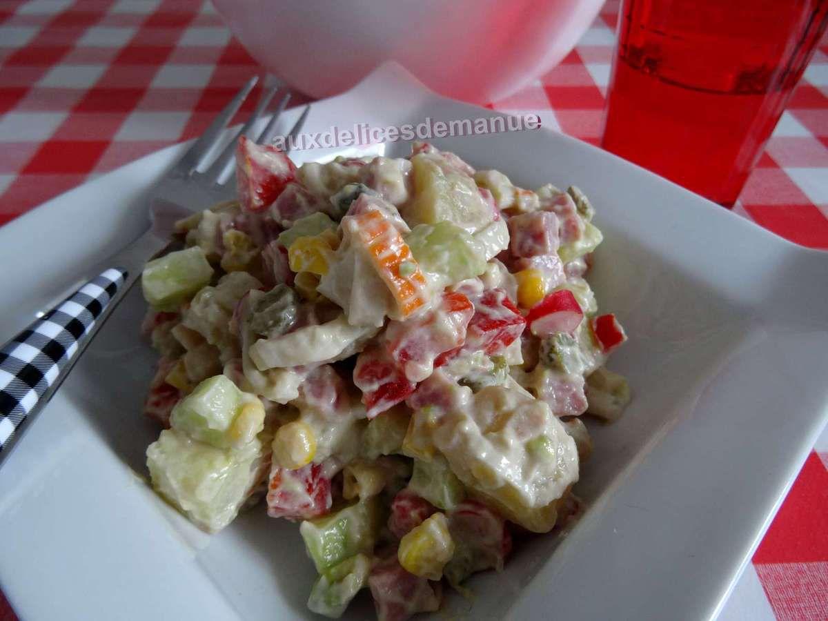 Salade de pommes de terre gourmande et légère -Light-
