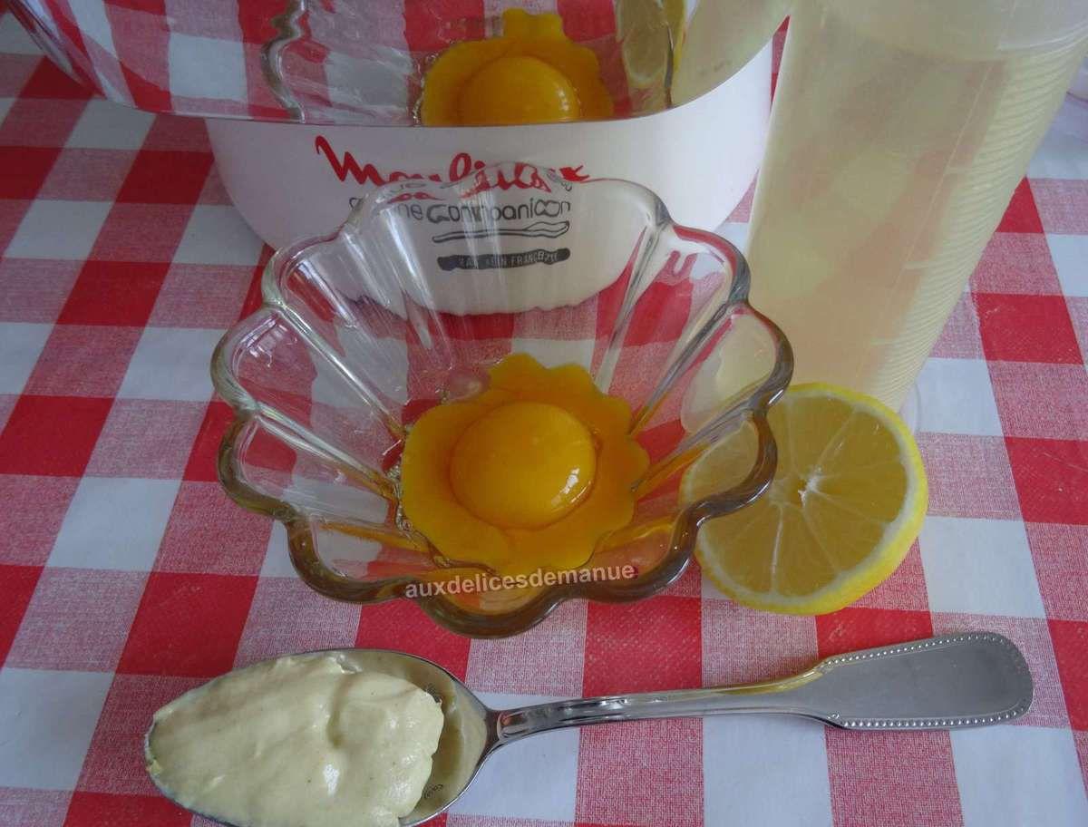 Mayonnaise au citron et persil