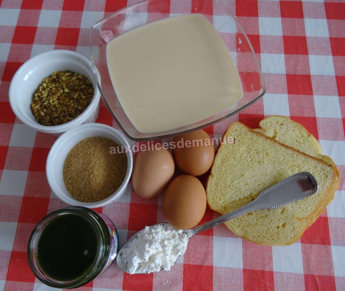 Crème briochée à la pistache au Cookéo  ou pas