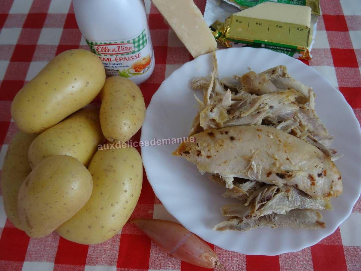 Restes de poulet rôti en gratin de pommes de terre