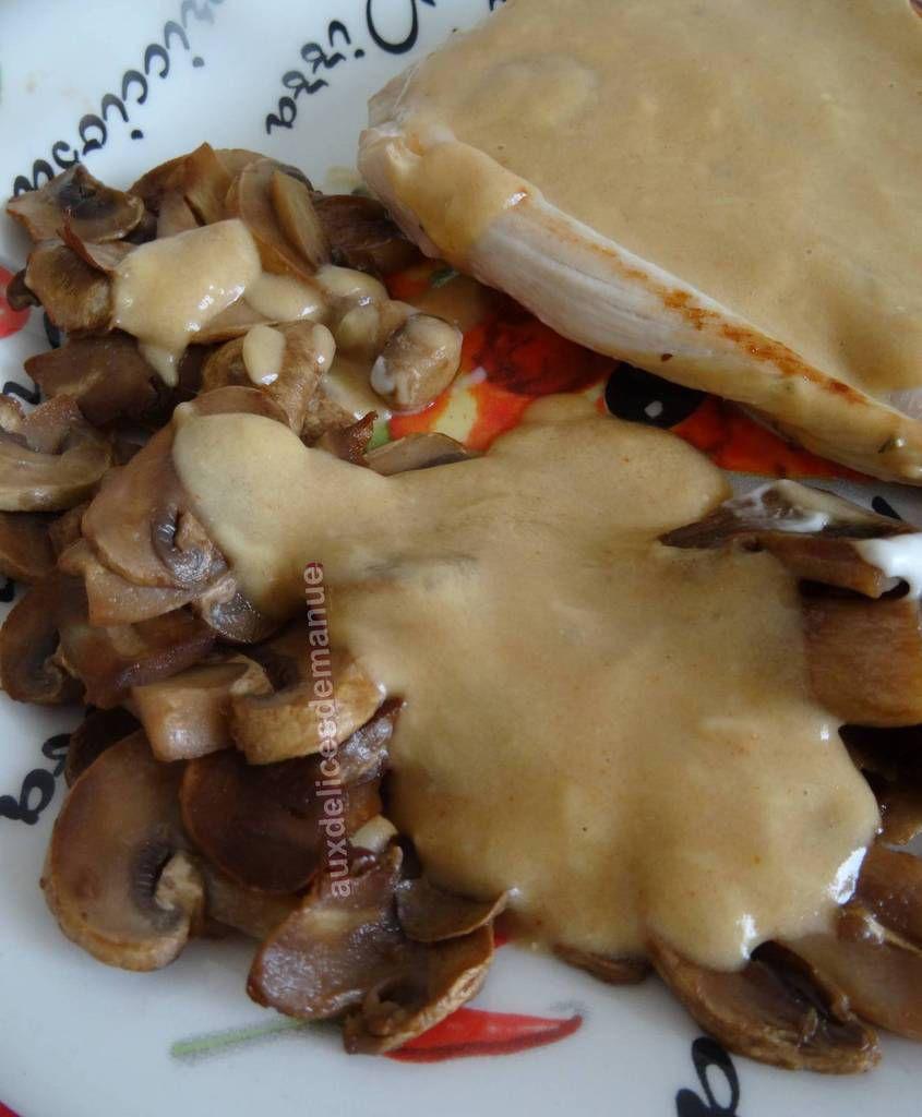 Filets de dinde, sauce parmesan
