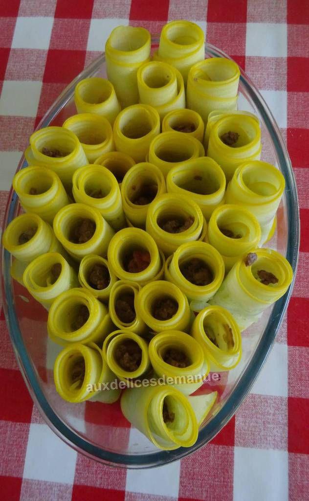 Cannellonis de courgette au bœuf et coulis de tomates
