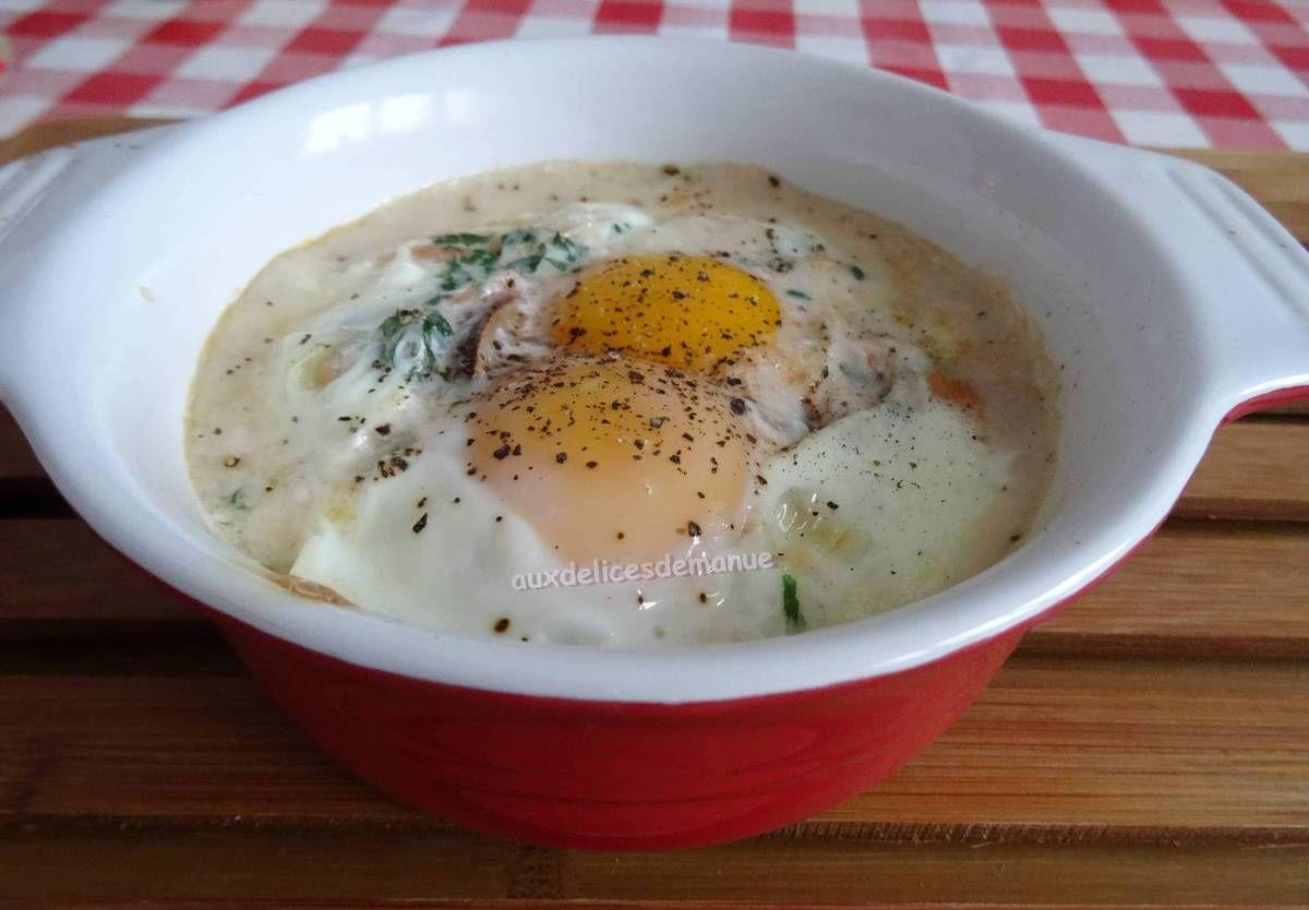 œufs,œufs cocotte,œufs au four,œufs en ramequin saumon fumé,entrée,recette rapide,recette festive,entrée de fêtes,entrée de fêtes pas cher