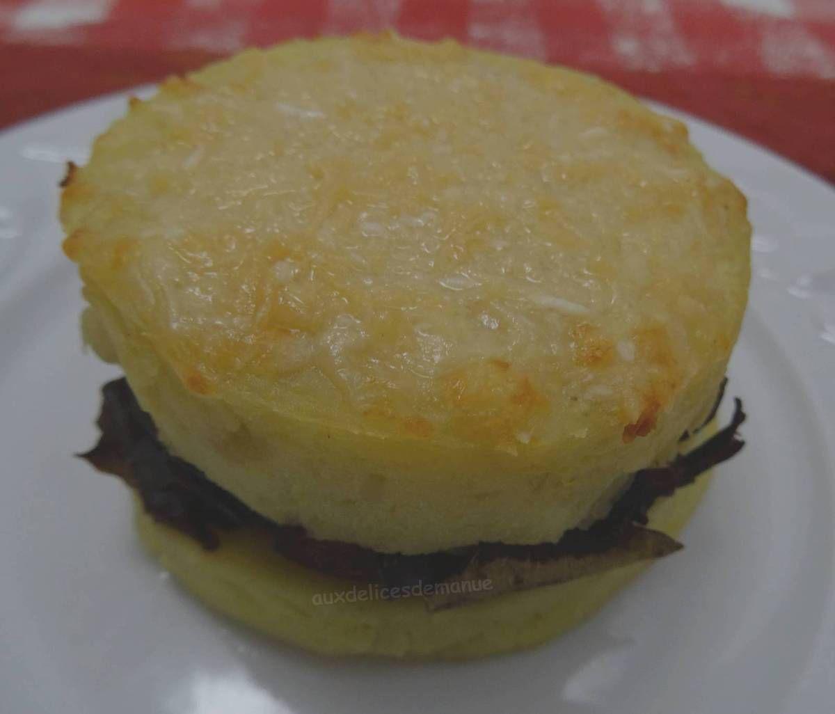 parmentier, purée, écrasé de pommes de terre, champignons, champignons déshydratés, accompagnement, recette de fêtes pas cher