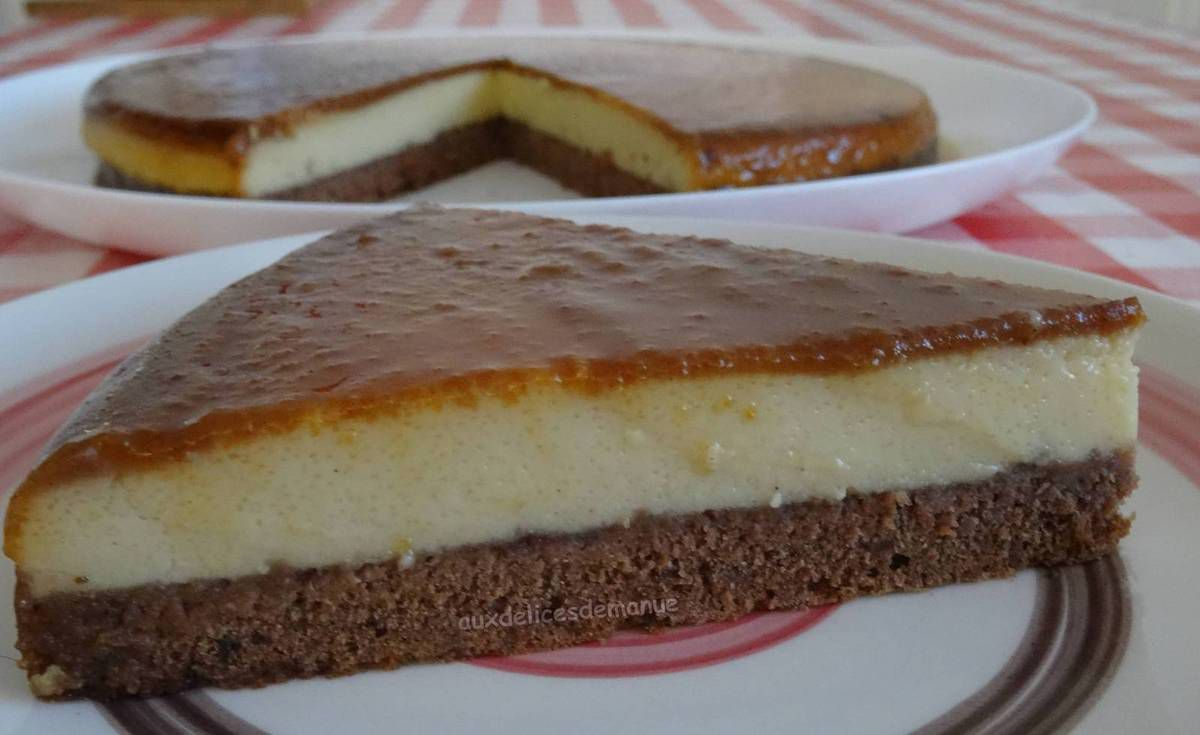 Gâteau impossible chocolat-vanille