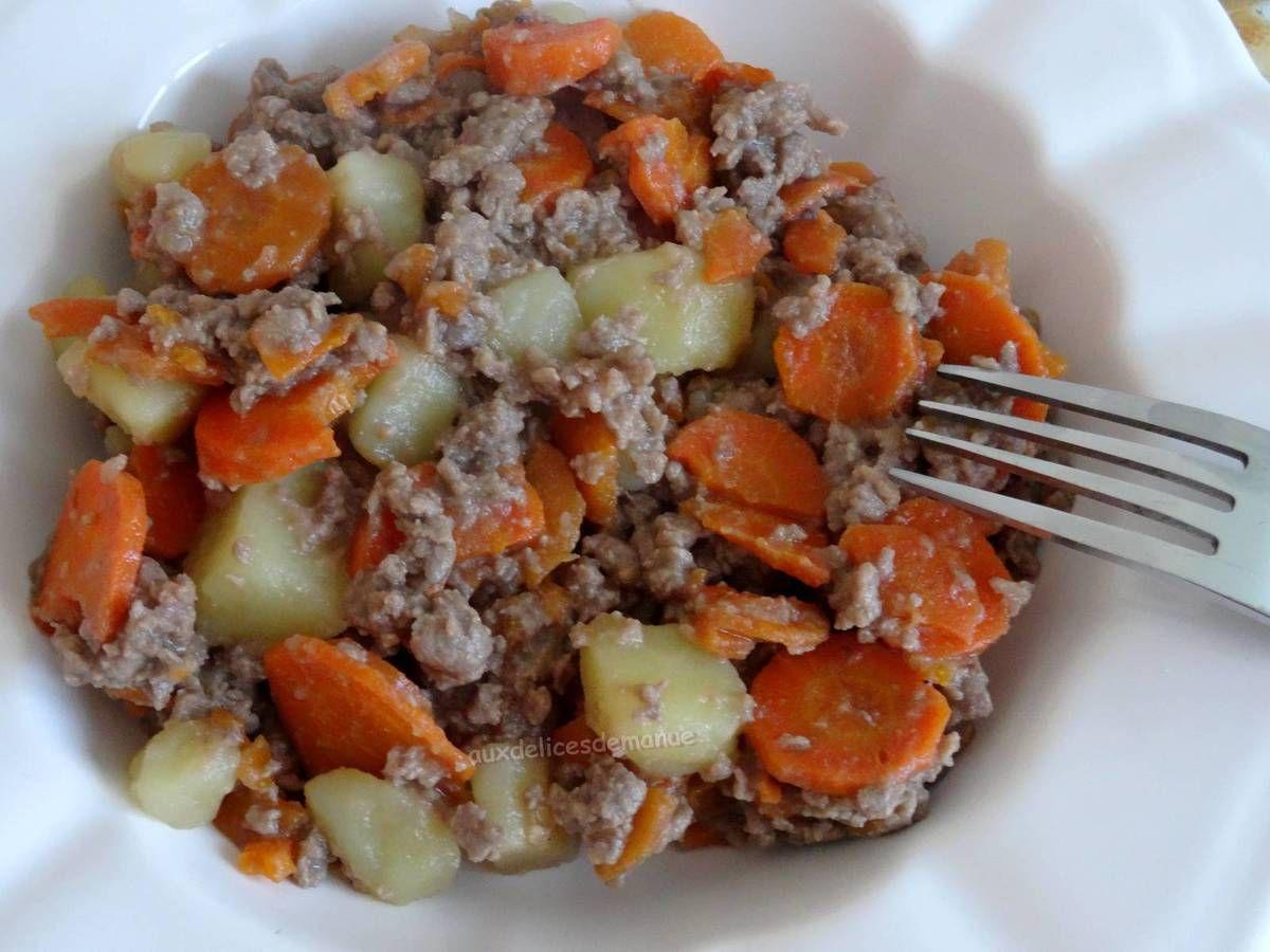 Ragoût de pommes de terre et carottes, au bœuf -light-
