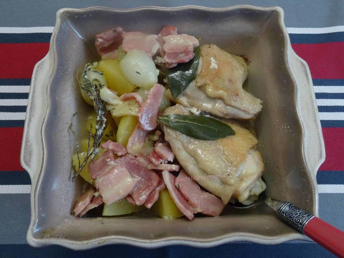poulet,volaille,pommes de terre,plat unique,cookéo,cuisse de poulet