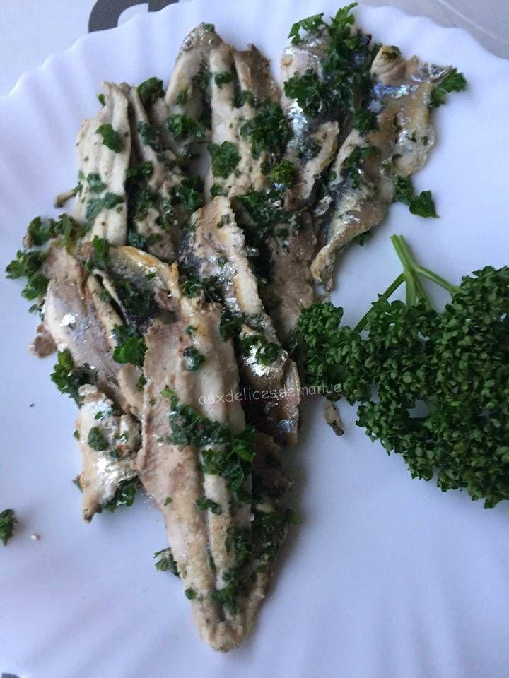 Sardines marinées au citron et persil, à la plancha