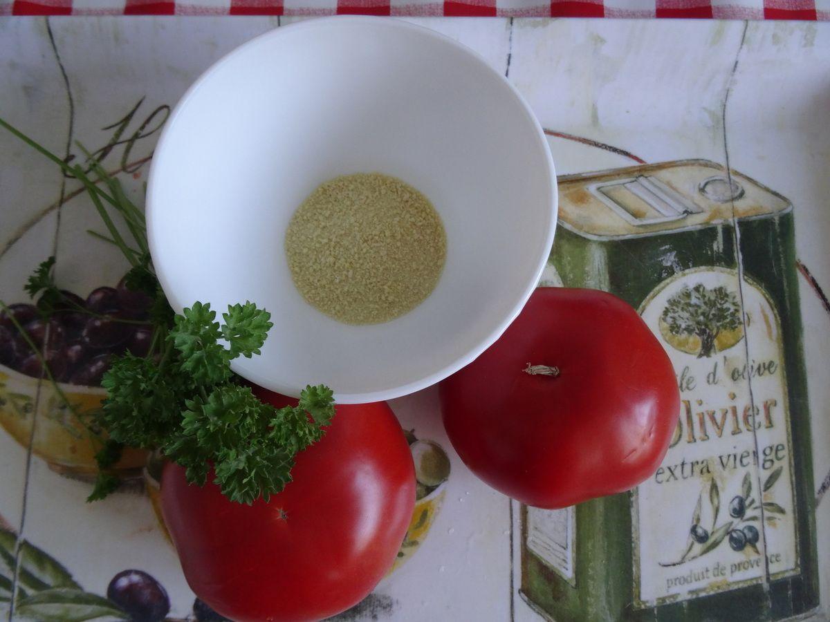 Tomates à la chapelure aux herbes, au four