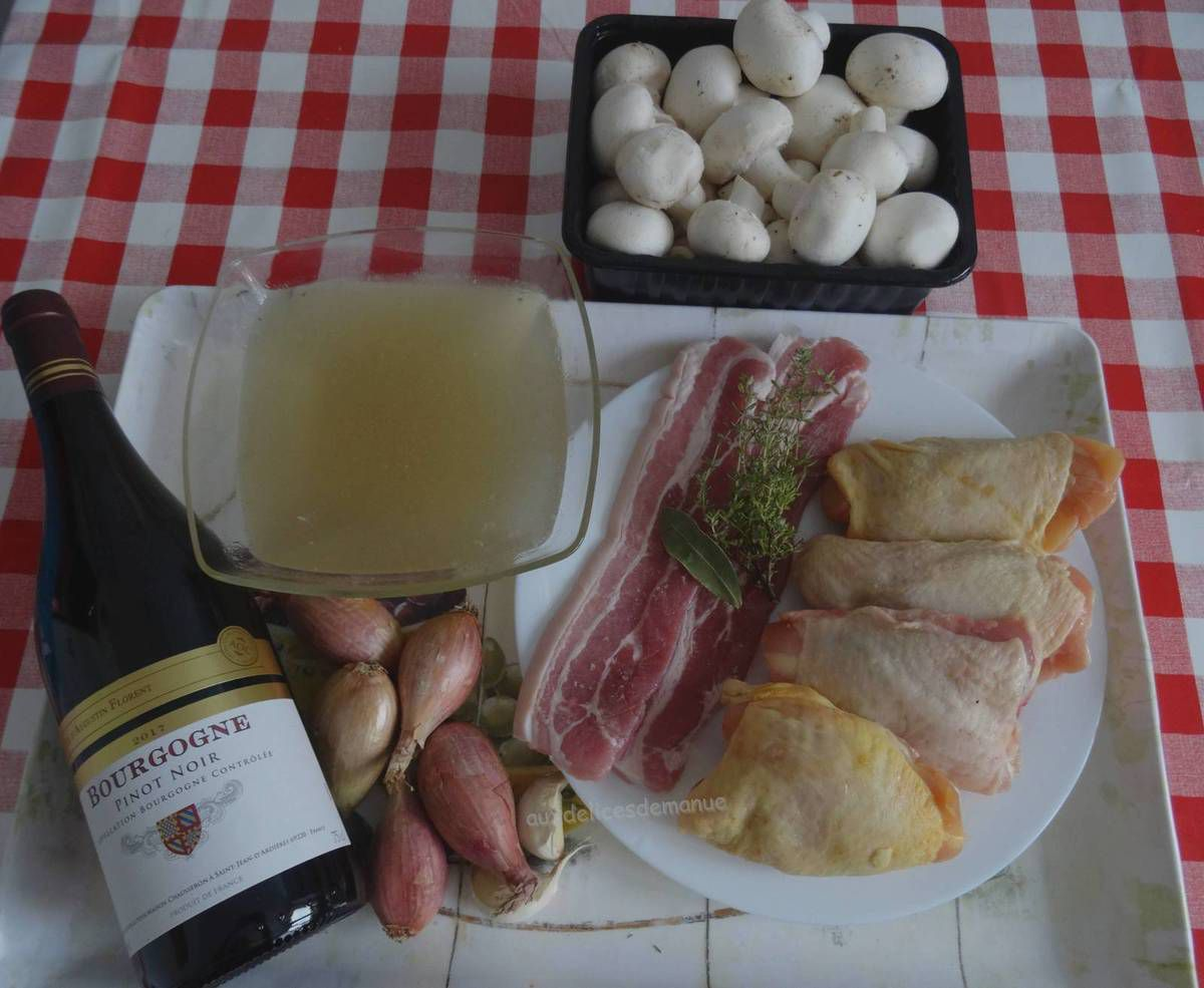 Poulet à la bourguignonne avec M. Cuisine ou pas