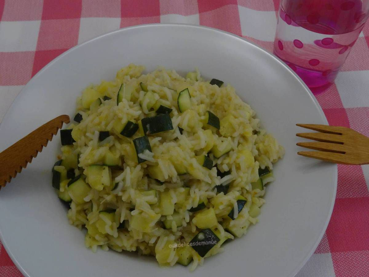 courgette, riz, one pot