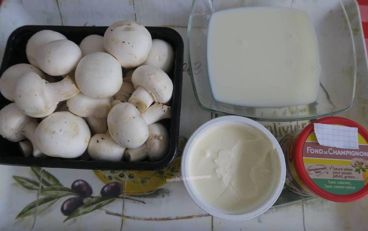 Crème de champignons de Paris grillés