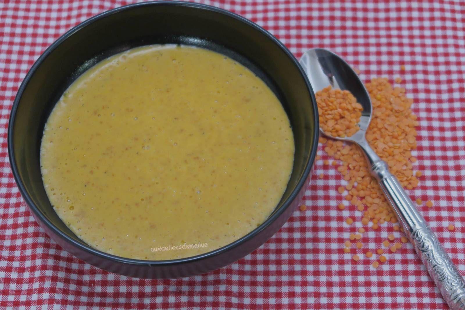 Soupe de lentilles corail au chorizo- au Cookéo ou pas
