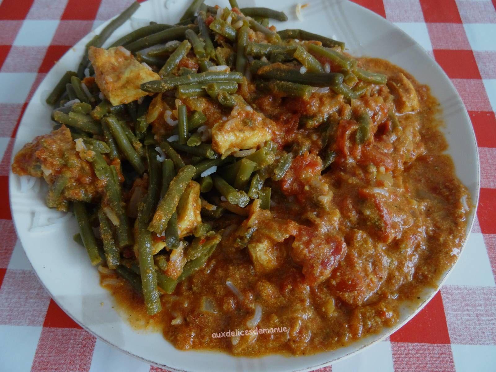 Poulet et haricots verts au mélange Tandoori