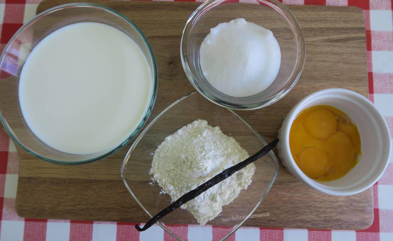 Choux et éclairs à la crème pâtissière à la vanille.