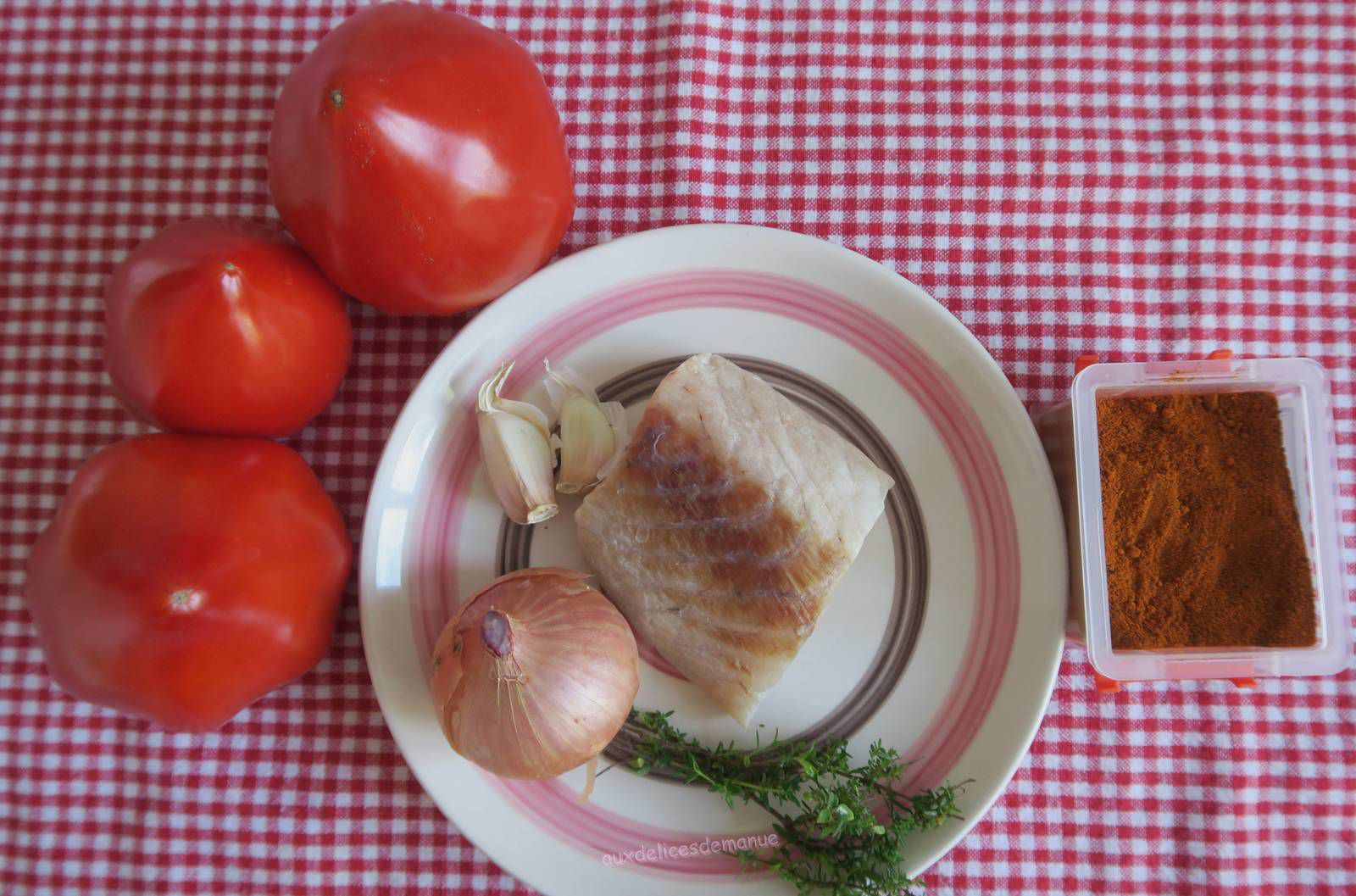 Filet de lieu noir en sauce tomate épicée -light