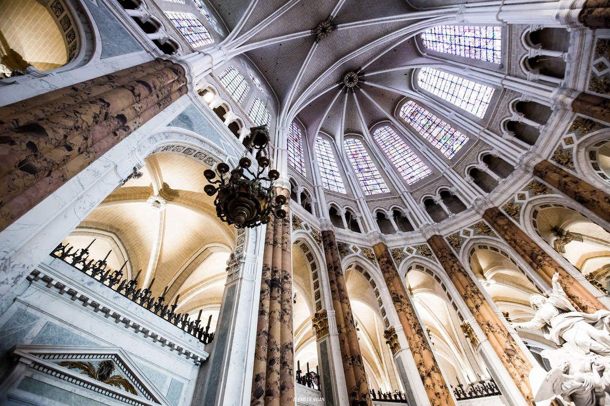 Cathédrale de Chartres lors de sa réfection