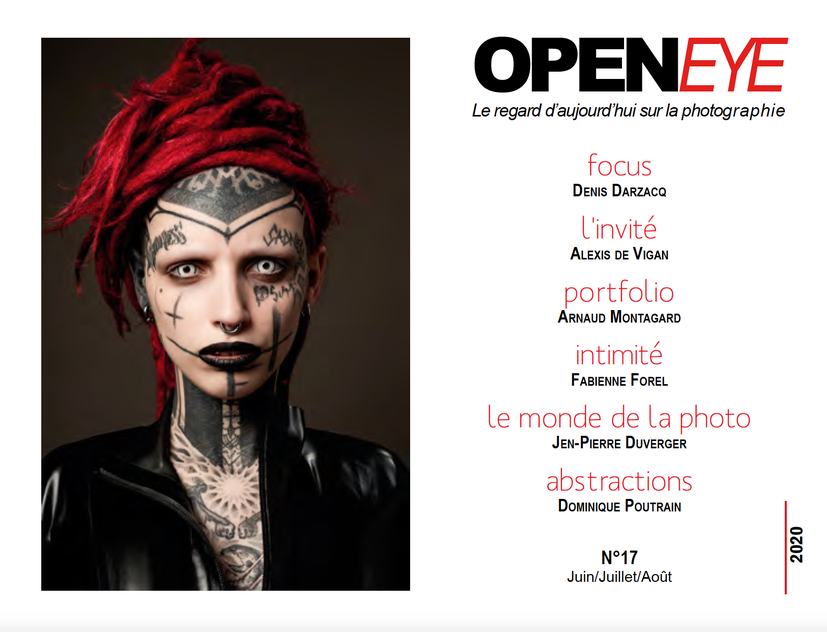 Alexis de Vigan fait la couverture du mag photo OPENEYE