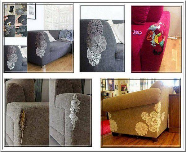 Couture sur canapé