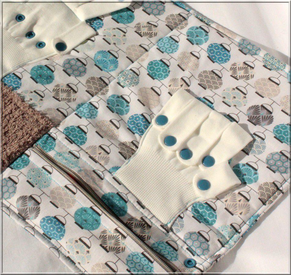 Compter avec les doigts d'une paire de gant