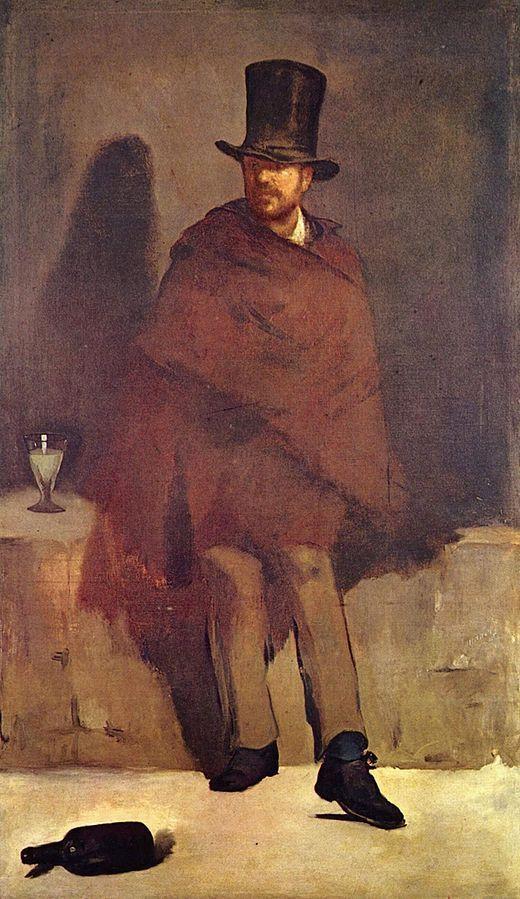 Edouard Manet, le Buveur d'absinthe (1859)  © Internet