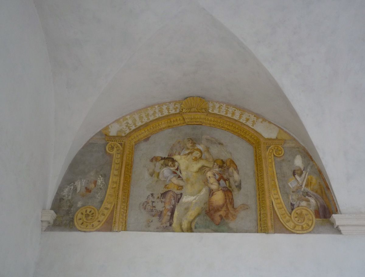 Dead Christ supported by three Angels (Raphael School)