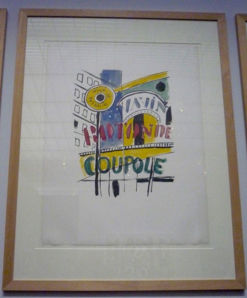 Fernand Léger, Montparnasse (1953-1955), lithographie sur Vélin d'Arches (exposition Pompidou-Metz, 21 août 2017)