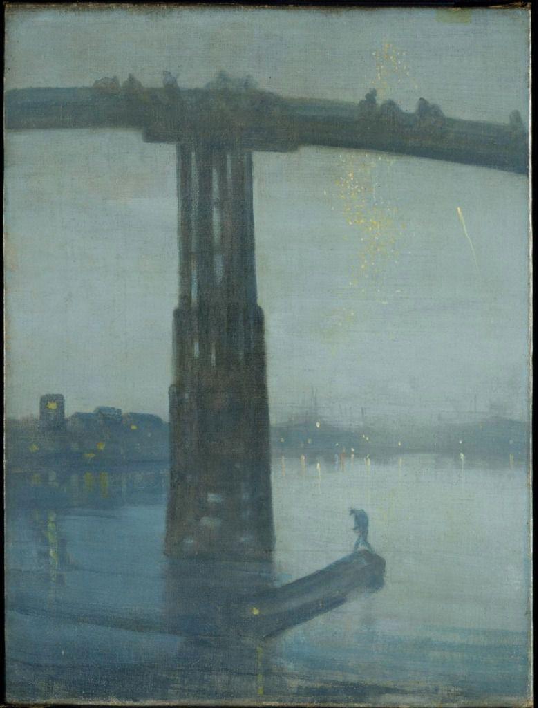 James Abbott McNeill Whistler, Nocturne : Blue and Gold – Old Battersea Bridge c. 1872-5, huile sur toile