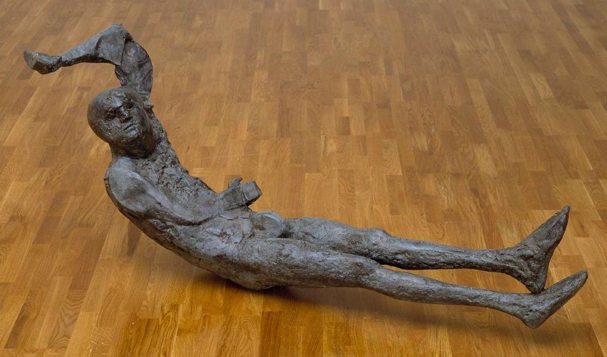 Elisabeth Frink, Dying King, 1963, bronze