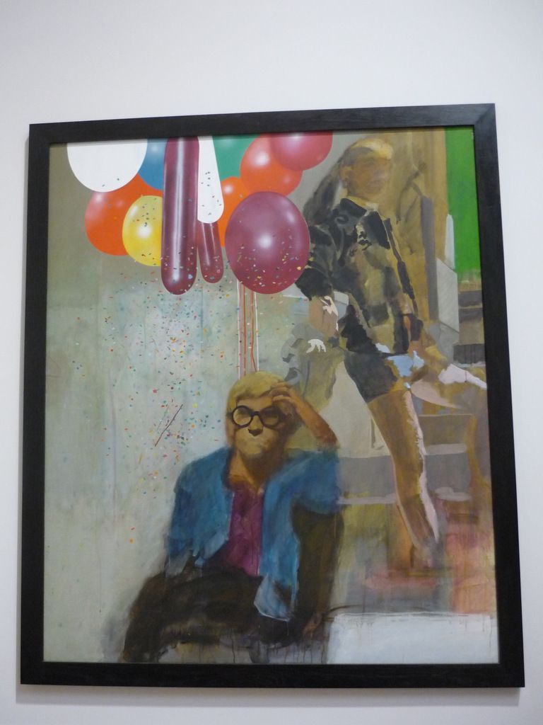 Peter Blake, Portrait of David Hockney in a Hollywood Spanish Interior, 1965, Acrylic paint, graphite and ink on canvas