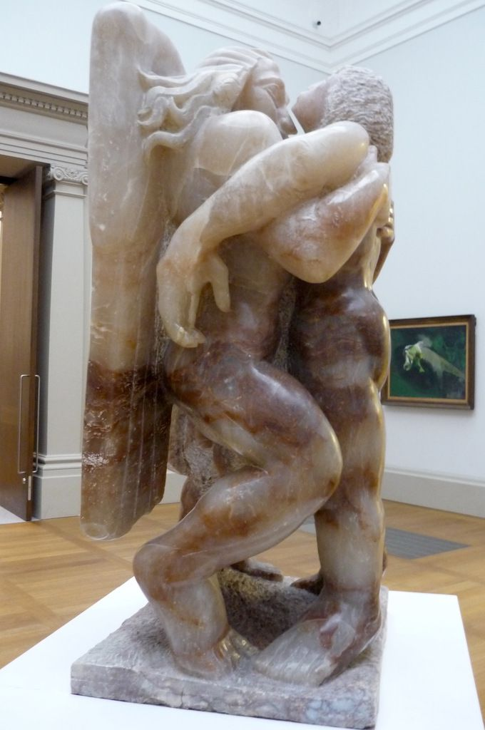 Jacob Epstein, Jacob and the Angel, 1940-1, albâtre
