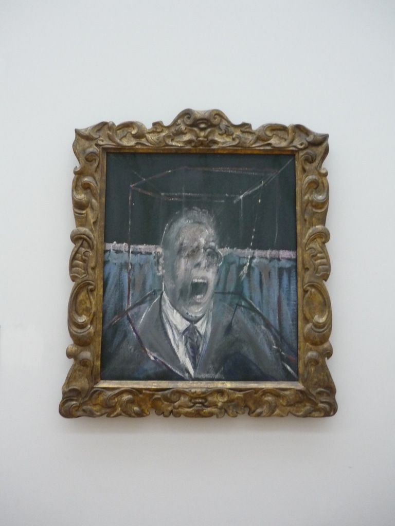 Francis Bacon, Study for a Portrait, 1952, Oil paint and sand on canvas