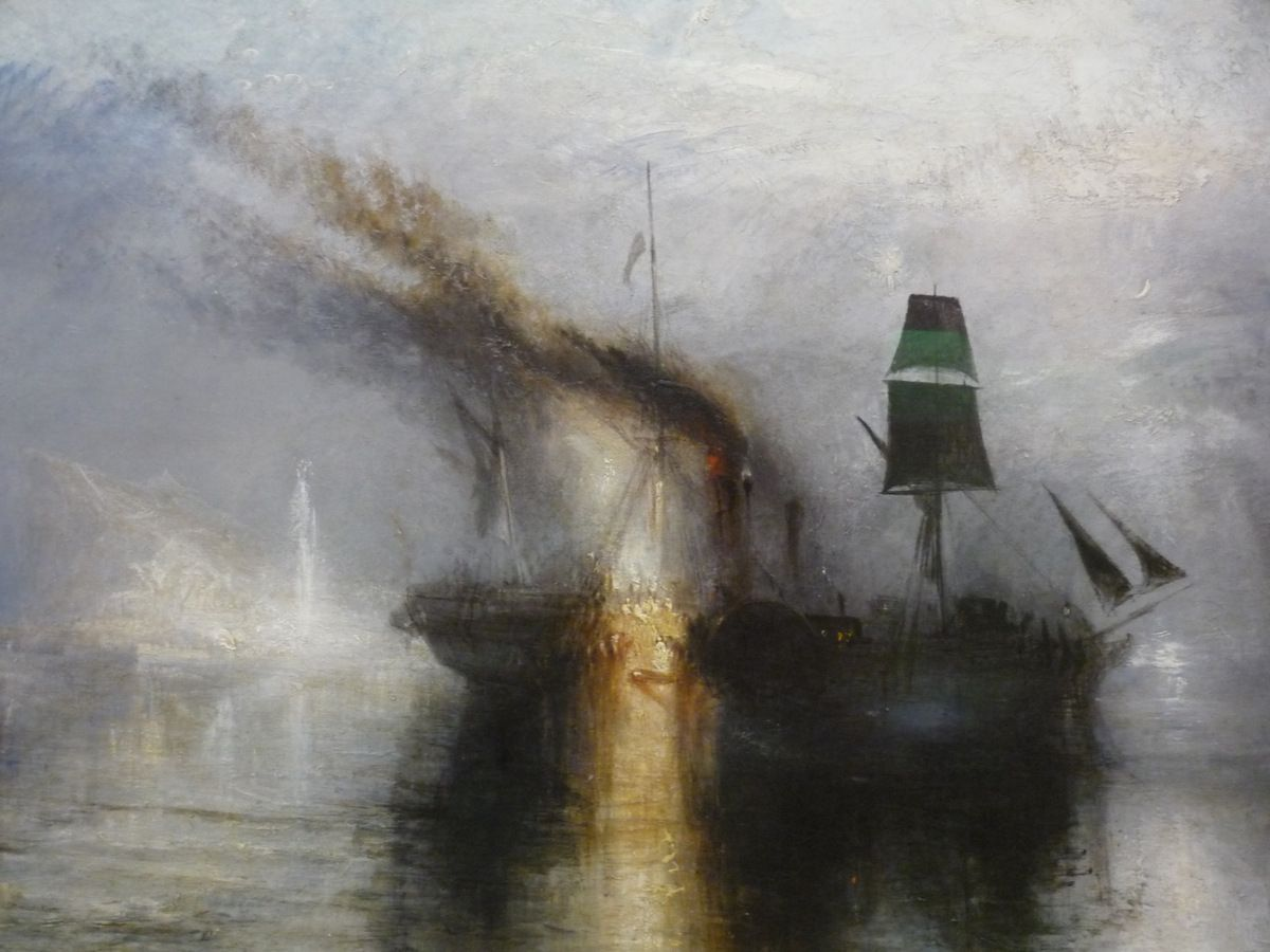JMW Turner, Peace - Burial at Sea, exhibited 1842